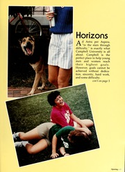 Page 7, 1987 Edition, Campbell University - Pine Burr Yearbook (Buies Creek, NC) online yearbook collection