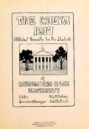 Page 7, 1917 Edition, Washington and Lee University - Calyx Yearbook (Lexington, VA) online yearbook collection