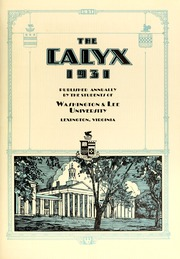Page 9, 1931 Edition, Washington and Lee University - Calyx Yearbook (Lexington, VA) online yearbook collection