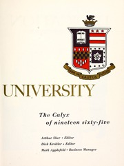 Page 9, 1965 Edition, Washington and Lee University - Calyx Yearbook (Lexington, VA) online yearbook collection