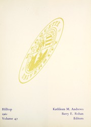 Page 5, 1961 Edition, Marquette University - Hilltop Yearbook (Milwaukee, WI) online yearbook collection