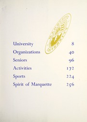 Page 7, 1961 Edition, Marquette University - Hilltop Yearbook (Milwaukee, WI) online yearbook collection
