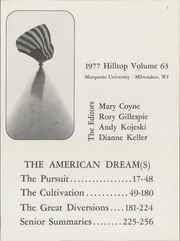 Page 5, 1977 Edition, Marquette University - Hilltop Yearbook (Milwaukee, WI) online yearbook collection