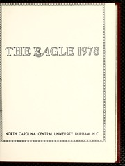 Page 5, 1978 Edition, North Carolina Central University - Eagle Yearbook (Durham, NC) online yearbook collection