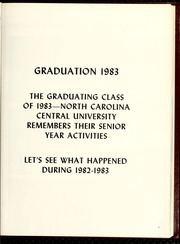 Page 13, 1983 Edition, North Carolina Central University - Eagle Yearbook (Durham, NC) online yearbook collection