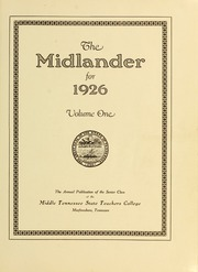 Page 5, 1926 Edition, Middle Tennessee State University - Midlander Yearbook (Murfreesboro, TN) online yearbook collection