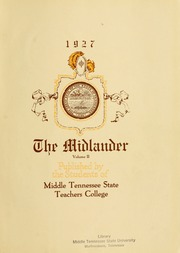 Page 5, 1927 Edition, Middle Tennessee State University - Midlander Yearbook (Murfreesboro, TN) online yearbook collection