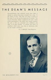 Page 11, 1933 Edition, Middle Tennessee State University - Midlander Yearbook (Murfreesboro, TN) online yearbook collection
