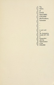Page 7, 1933 Edition, Middle Tennessee State University - Midlander Yearbook (Murfreesboro, TN) online yearbook collection