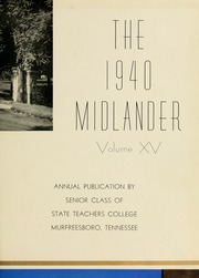 Page 7, 1940 Edition, Middle Tennessee State University - Midlander Yearbook (Murfreesboro, TN) online yearbook collection