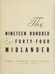 Page 7, 1944 Edition, Middle Tennessee State University - Midlander Yearbook (Murfreesboro, TN) online yearbook collection