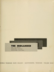 Page 5, 1959 Edition, Middle Tennessee State University - Midlander Yearbook (Murfreesboro, TN) online yearbook collection