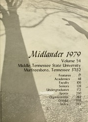 Page 5, 1979 Edition, Middle Tennessee State University - Midlander Yearbook (Murfreesboro, TN) online yearbook collection