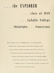 Page 6, 1949 Edition, La Salle University - Explorer Yearbook (Philadelphia, PA) online yearbook collection