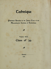 Page 7, 1899 Edition, Massachusetts Institute of Technology - Technique Yearbook (Cambridge, MA) online yearbook collection