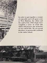 Page 9, 1961 Edition, West Babylon High School - Eagle Yearbook (West Babylon, NY) online yearbook collection