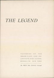 Page 3, 1941 Edition, Lafayette High School - Legend Yearbook (Brooklyn, NY) online yearbook collection