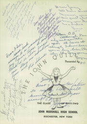Page 5, 1952 Edition, Marshall High School - John Quill Yearbook (Rochester, NY) online yearbook collection