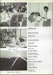 Page 6, 1981 Edition, John Bowne High School - Opus Yearbook (Flushing, NY) online yearbook collection