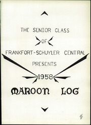 Page 5, 1958 Edition, Frankfort Schuyler Central High School - Maroon Log Yearbook (Frankfort, NY) online yearbook collection