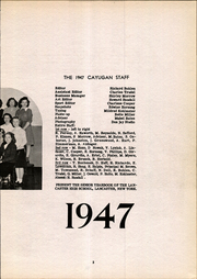 Page 7, 1947 Edition, Lancaster High School - Cayugan Yearbook (Lancaster, NY) online yearbook collection