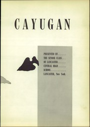 Page 7, 1956 Edition, Lancaster High School - Cayugan Yearbook (Lancaster, NY) online yearbook collection
