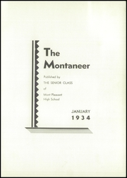 Page 5, 1934 Edition, Mont Pleasant High School - Montaneer Yearbook (Schenectady, NY) online yearbook collection