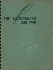 Page 1, 1940 Edition, Mont Pleasant High School - Montaneer Yearbook (Schenectady, NY) online yearbook collection