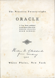 Page 3, 1928 Edition, White Plains High School - Oracle Yearbook (White Plains, NY) online yearbook collection
