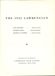 Page 7, 1942 Edition, Lawrence High School - Lawrencian Yearbook (Cedarhurst, NY) online yearbook collection