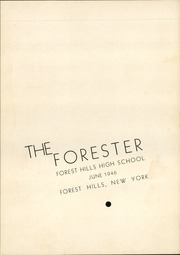 Page 7, 1946 Edition, Forest Hills High School - Forester Yearbook (Forest Hills, NY) online yearbook collection
