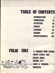 Page 6, 1963 Edition, Jamaica High School - Folio Yearbook (Jamaica, NY) online yearbook collection