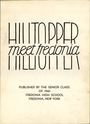 Page 7, 1940 Edition, Fredonia High School - Hilltopper Yearbook (Fredonia, NY) online yearbook collection
