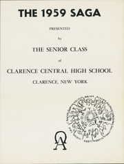 Page 5, 1959 Edition, Clarence Central School - Saga Yearbook (Clarence, NY) online yearbook collection