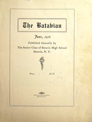 Page 3, 1916 Edition, Batavia High School - Batavian Yearbook (Batavia, NY) online yearbook collection