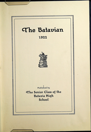 Page 5, 1922 Edition, Batavia High School - Batavian Yearbook (Batavia, NY) online yearbook collection