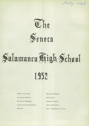 Page 5, 1952 Edition, Salamanca High School - Seneca Yearbook (Salamanca, NY) online yearbook collection