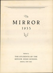 Page 7, 1935 Edition, Medina High School - Mirror Yearbook (Medina, NY) online yearbook collection