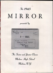 Page 5, 1945 Edition, Medina High School - Mirror Yearbook (Medina, NY) online yearbook collection