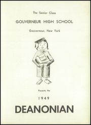 Page 5, 1949 Edition, Gouverneur High School - Deanonian Yearbook (Gouverneur, NY) online yearbook collection
