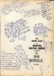 Page 5, 1959 Edition, Webster Central High School - Reveille Yearbook (Webster, NY) online yearbook collection
