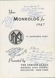 Page 5, 1947 Edition, Monroe High School - Monrolog Yearbook (Rochester, NY) online yearbook collection