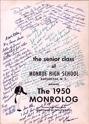 Page 5, 1950 Edition, Monroe High School - Monrolog Yearbook (Rochester, NY) online yearbook collection