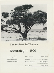 Page 5, 1970 Edition, Monroe High School - Monrolog Yearbook (Rochester, NY) online yearbook collection