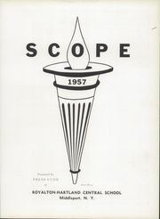 Page 7, 1957 Edition, Royalton Hartland Central School - Scope Yearbook (Middleport, NY) online yearbook collection
