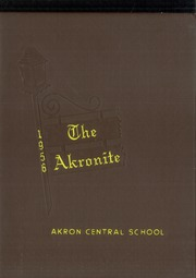 Akron Central School - Akronite Yearbook (Akron, NY) online yearbook collection, 1956 Edition, Page 1