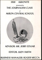 Page 5, 1968 Edition, Akron Central School - Akronite Yearbook (Akron, NY) online yearbook collection