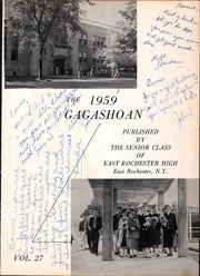 Page 5, 1959 Edition, East Rochester High School - Gagashoan Yearbook (East Rochester, NY) online yearbook collection