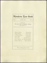 Page 3, 1912 Edition, Mynderse Academy - Myndersian Yearbook (Seneca Falls, NY) online yearbook collection