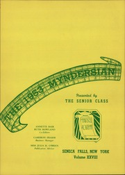 Page 5, 1953 Edition, Mynderse Academy - Myndersian Yearbook (Seneca Falls, NY) online yearbook collection
